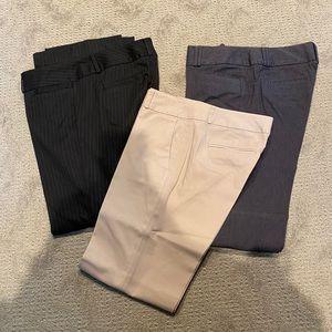 Lot of 3 Banana Republic trousers - size 8